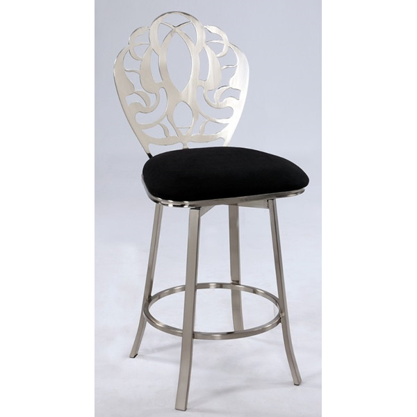 Laser Cut Back Memory Back Swivel Barstool