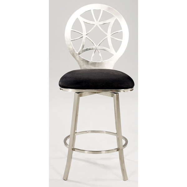 Laser Cut Round Back Memory Swivel Counter Stool