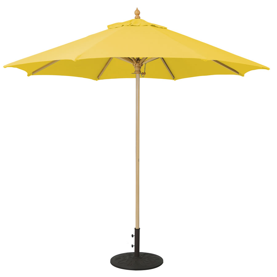 Commercial Wood Umbrella – 9'