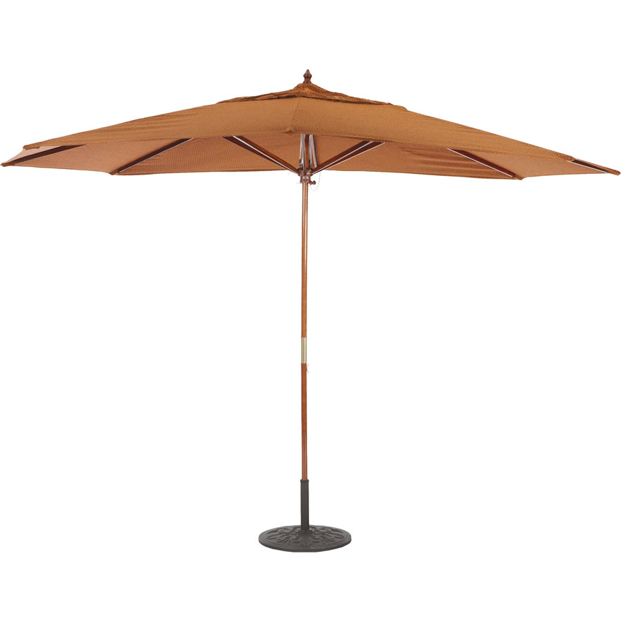 Oval Shade Quad Pulley Umbrella – 8' x 11'