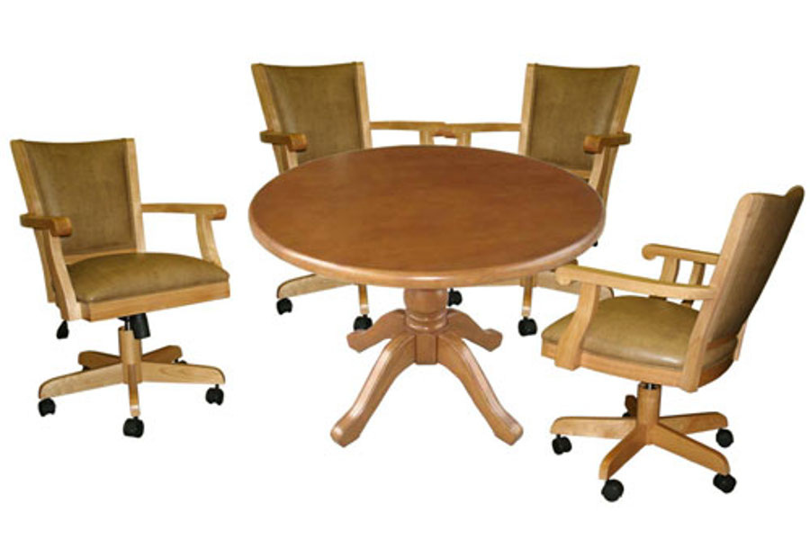 Dining Set with Full Back Chairs in Mango