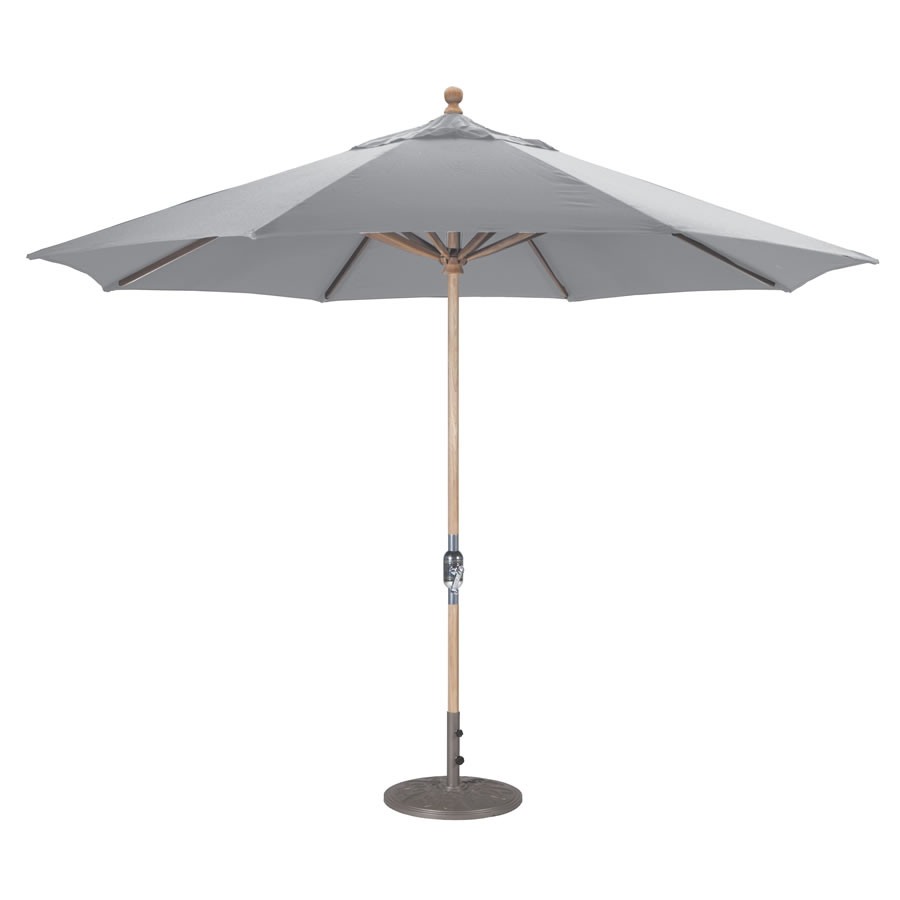 Crank Lift Teak Umbrella – 11'