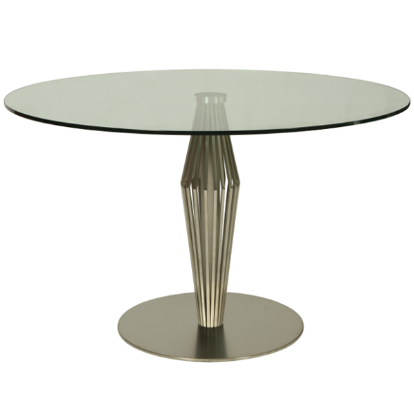 "Alexandria 48"" Glass Top Round Table"