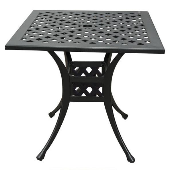 "bistro table basket weave pattern 30"" - viking casual furniture"