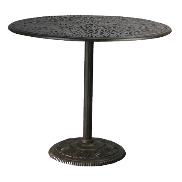 Table - Pedestal Bar - Floral Pattern - 42""