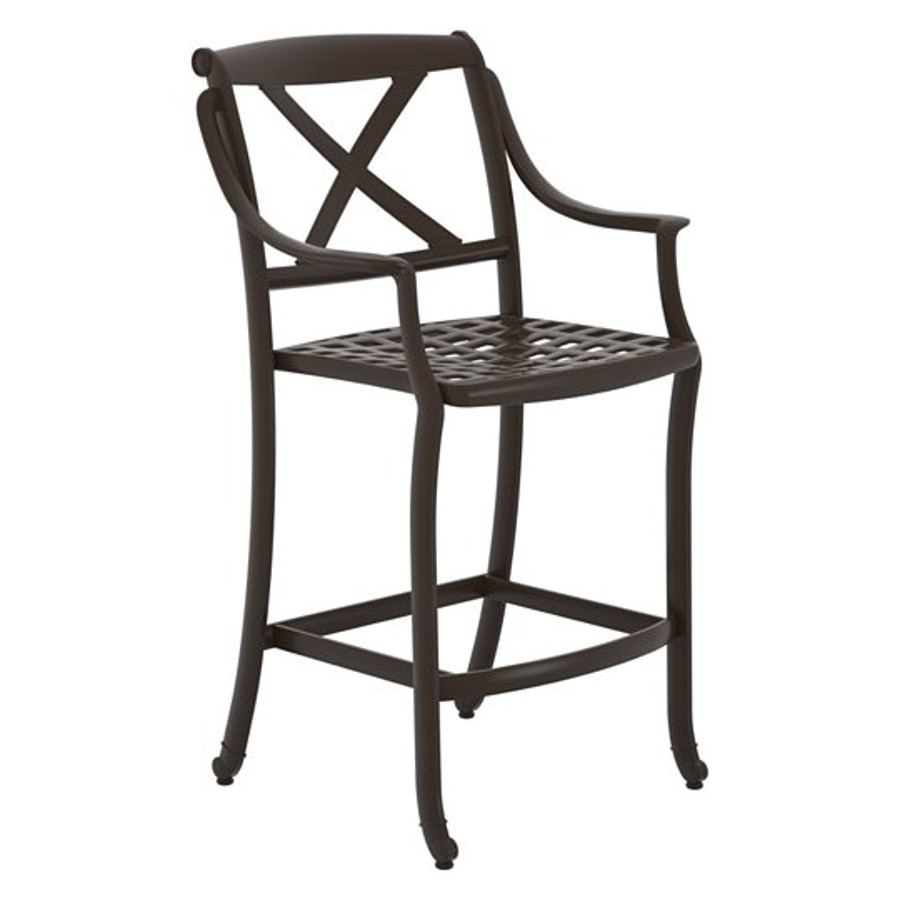 BelMar Cast Bar Stool with X-Back