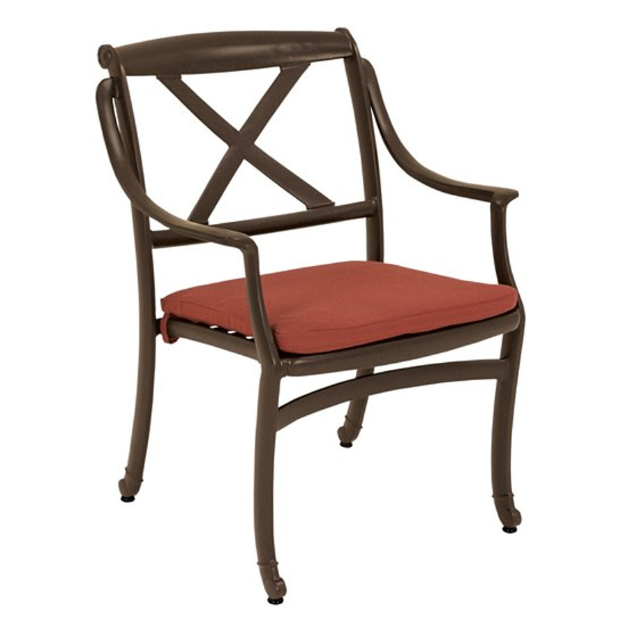 BelMar Cast Dining Chair with X-Back and Seat Pad