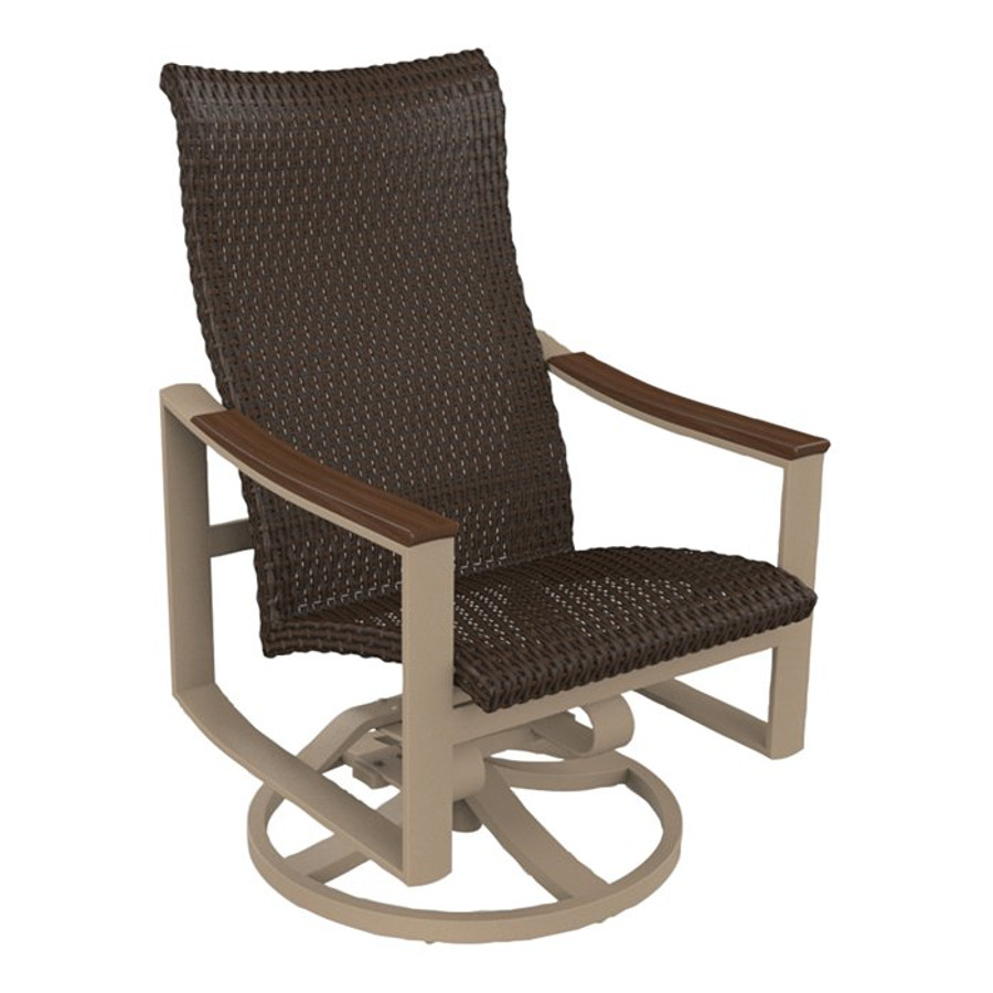 Brazo Woven High Back Swivel Rocker
