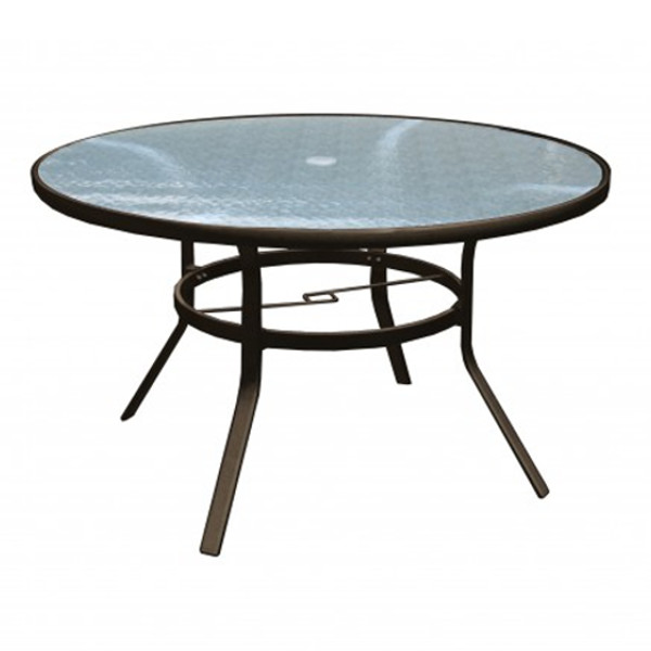 Alum/Sling Capri Dining Table 48""