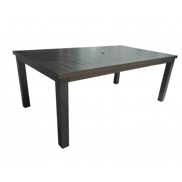 Alum/Sling - Capri Slatted Dining Table 72""