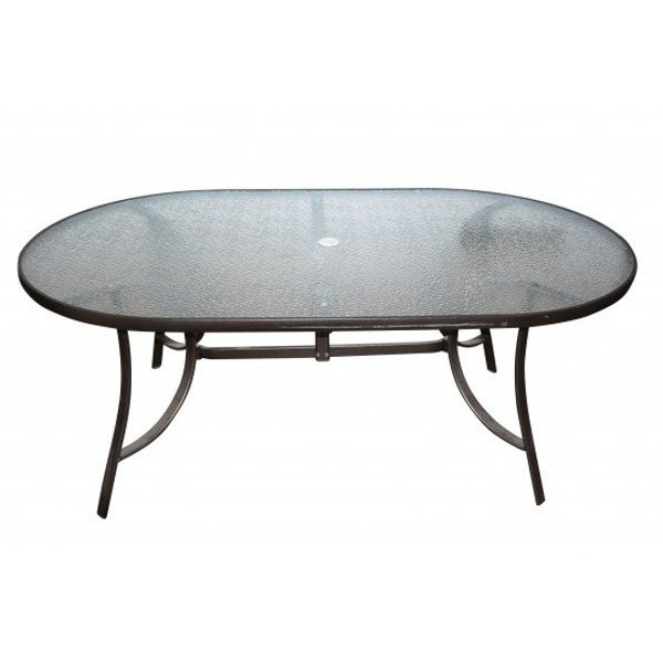 "Alum/Sling Capri Dining Table 72"" x 42"""