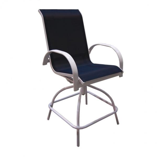 Alum/Sling Capri Counter Height Swivel Chair