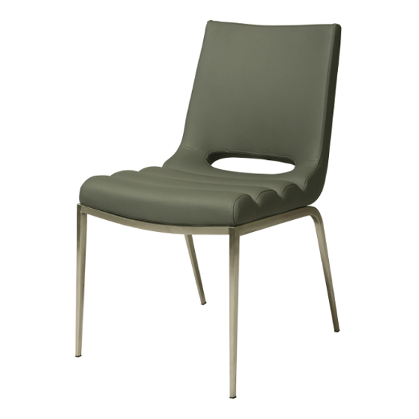 Emily Side Chair in PU Gray
