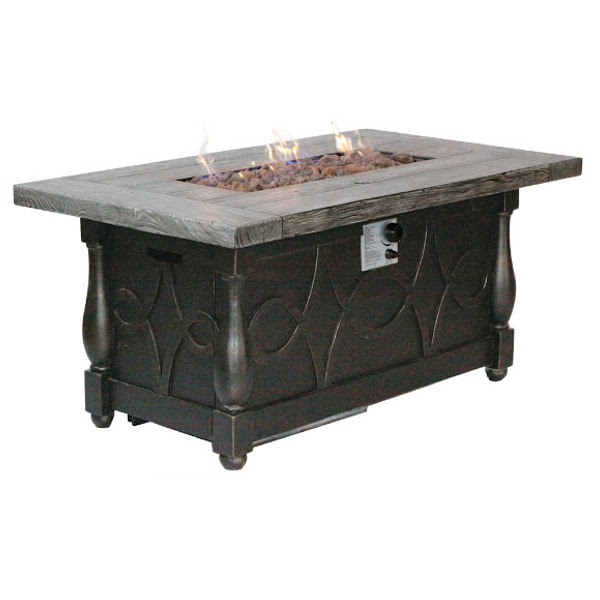 "Fire Pit - Synthetic Stone Top - 30"" x 52"""