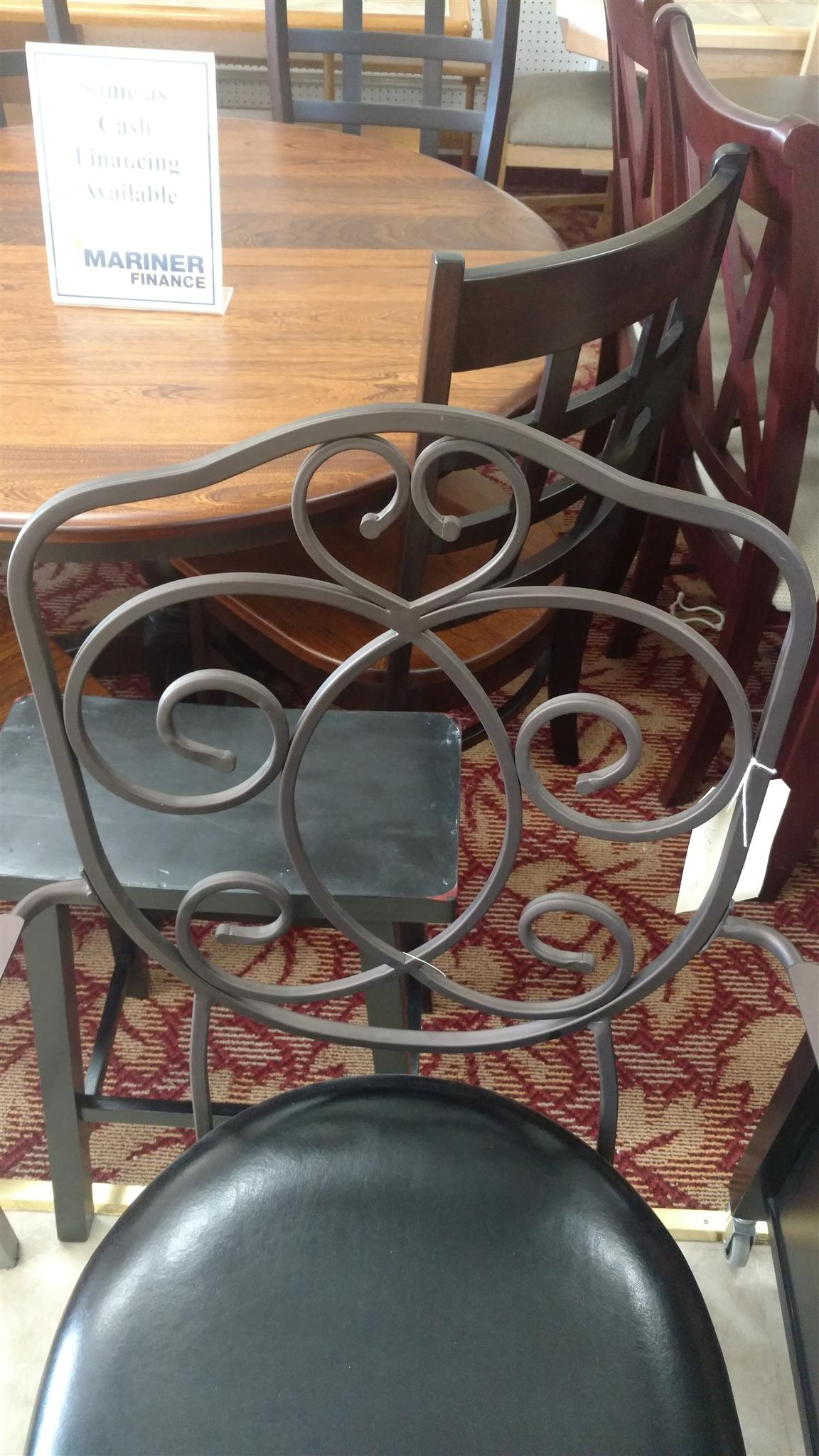 Bronze with Muted Copper Scroll Back Counter Stool