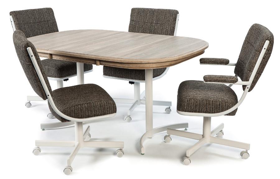 Chromcraft Table Top Square Round Driftwood Viking