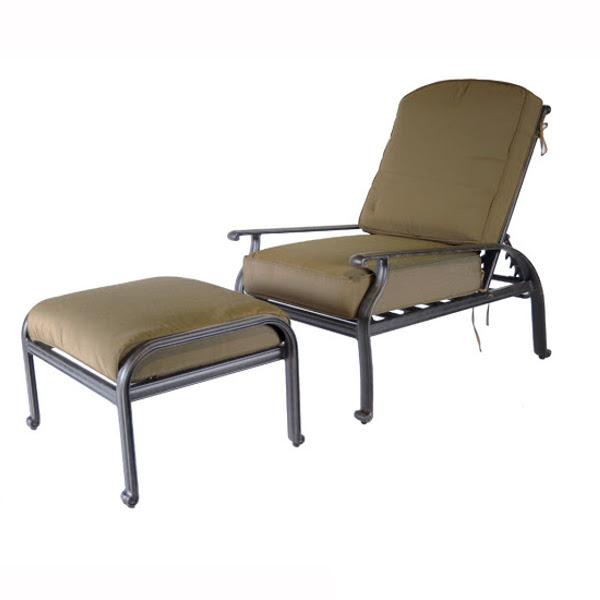 Lillian Adjustable Club Chair With Ottoman