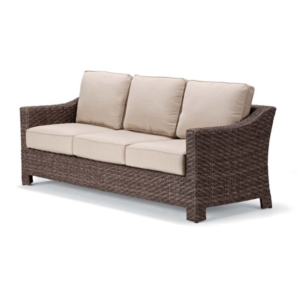 Lake Shore Wicker Three Seat Sofa