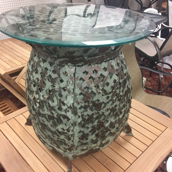 Art Deco Pineapple End Table