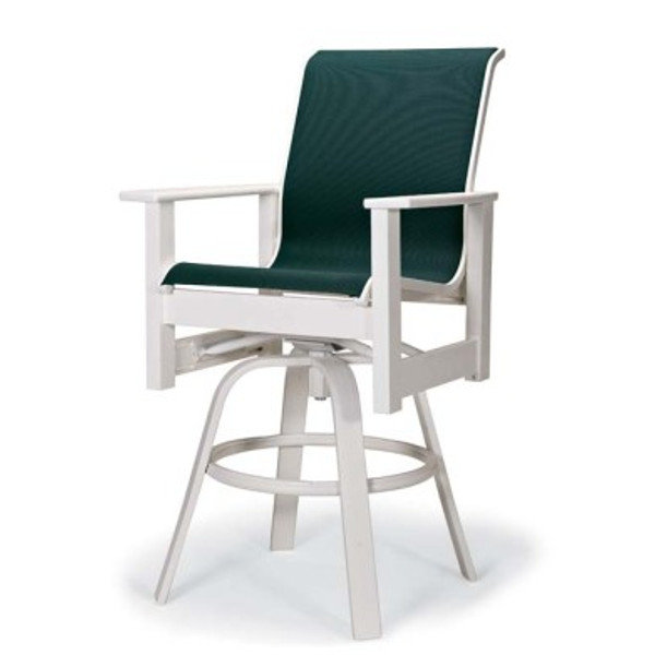 Leeward Sling Balcony Height Swivel Arm Chair
