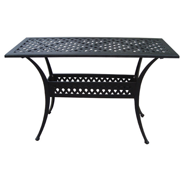 Side Table - Basket Weave Pattern