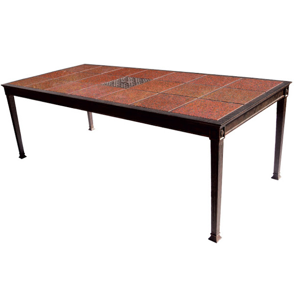 "Dining Table - Granite Tile - 41"" x 90"""