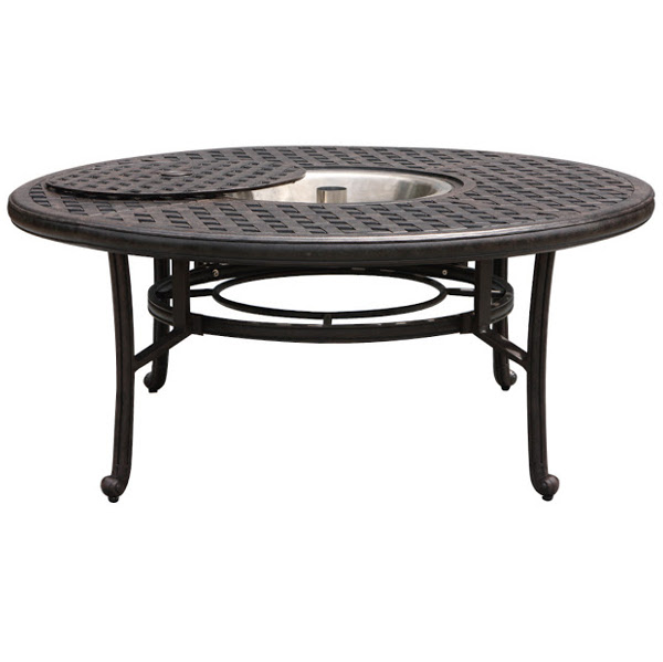 Ice Bucket Chat Table - Basket Weave Pattern -52""