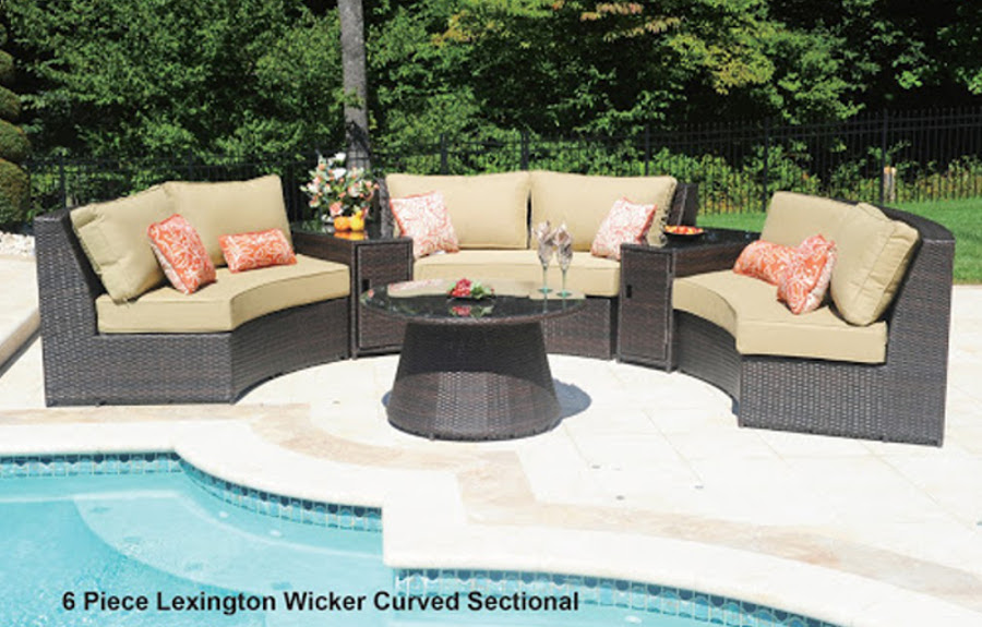 The Lexington Collection Curved Sectional Set