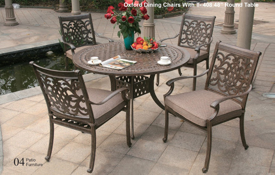 "The Oxford Collection Dining Set with 48"" Round Table"