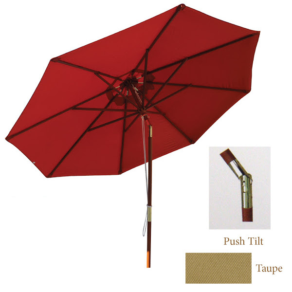 Umbrella - Deluxe Indonesian Wood with Teak Finish