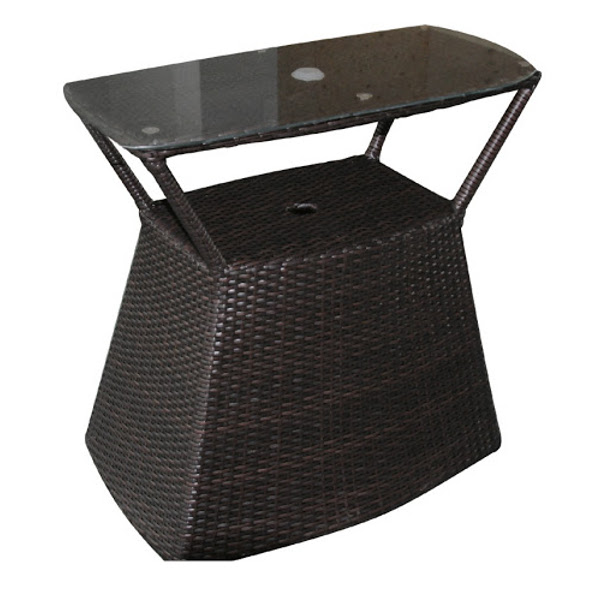 Wicker Umbrella Side Table