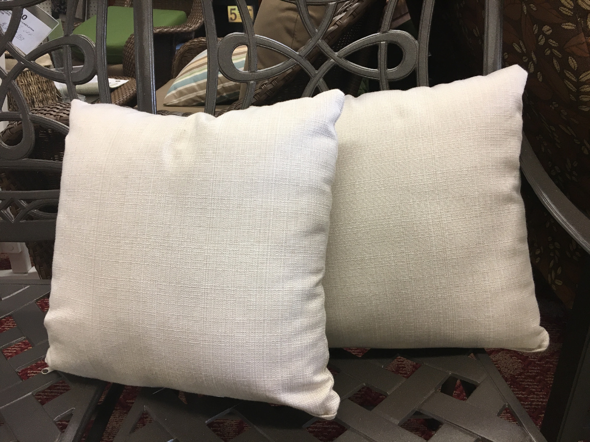 Natural Linen Throw Pillow