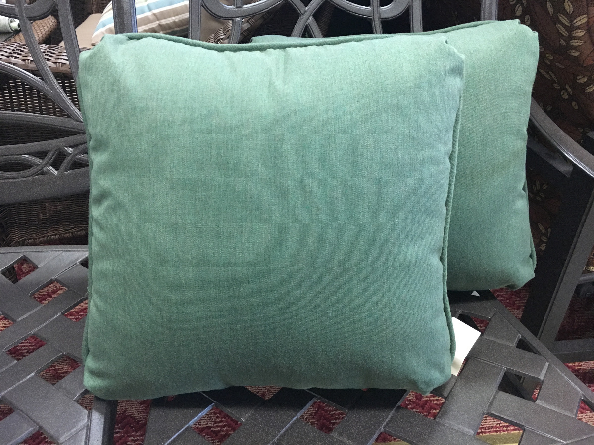 Mint Green Linen Throw Pillow