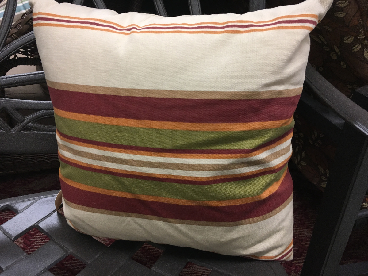 Linen Striped Pattern Throw Pillow