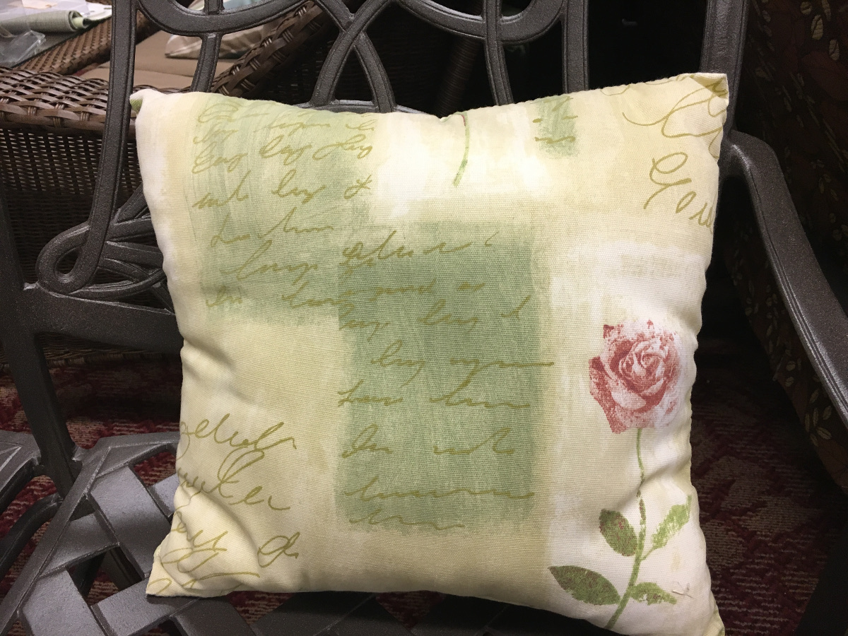 Poetry Pattern Throw Pillow