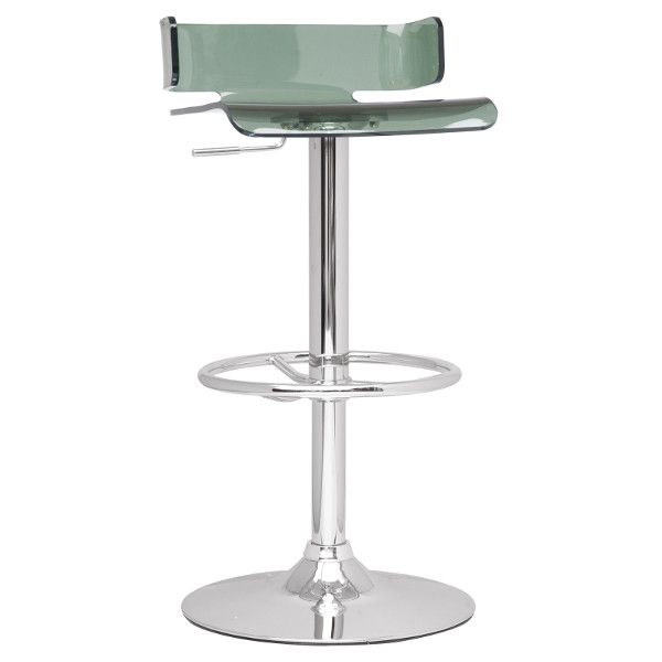 Swivel Stool with Acrylic Colored Seating