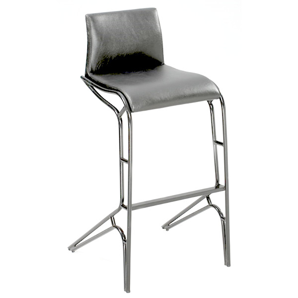 Modern Feet Counter Stool in Black
