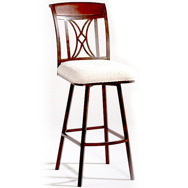 Memory Return Swivel Bar Stool in Beige