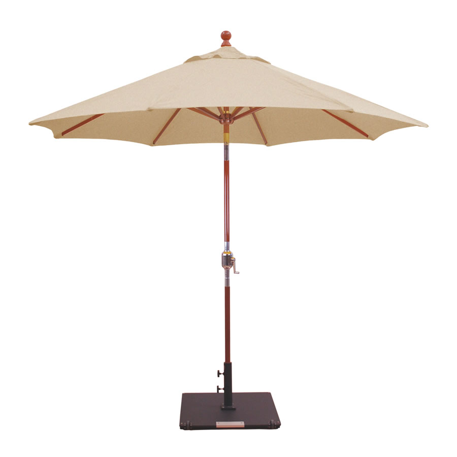 Crank Lift, Rotational Tilt Umbrella – 9'
