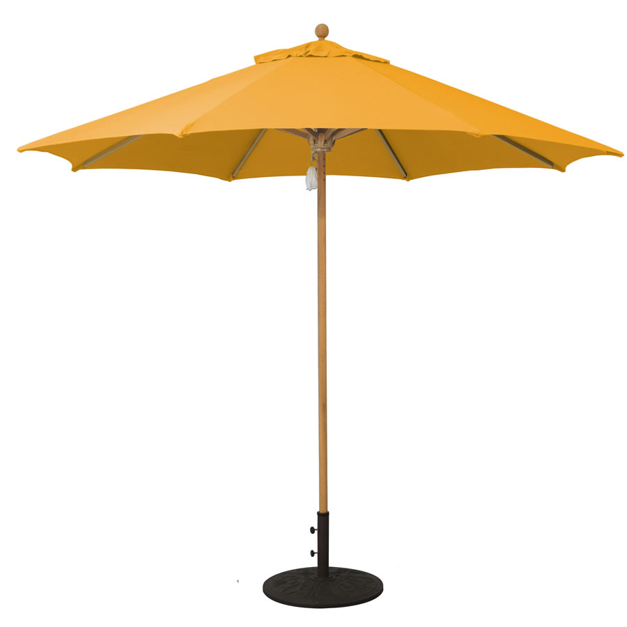 Designer Teak Umbrella – 9'