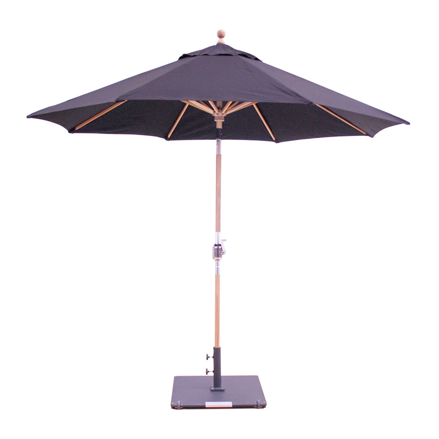 Rotational Tilt Teak Umbrella – 9'