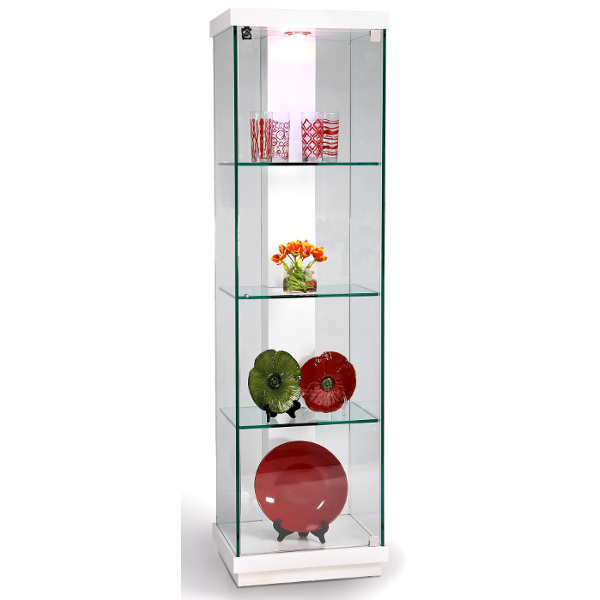 White Accent Glass Curio