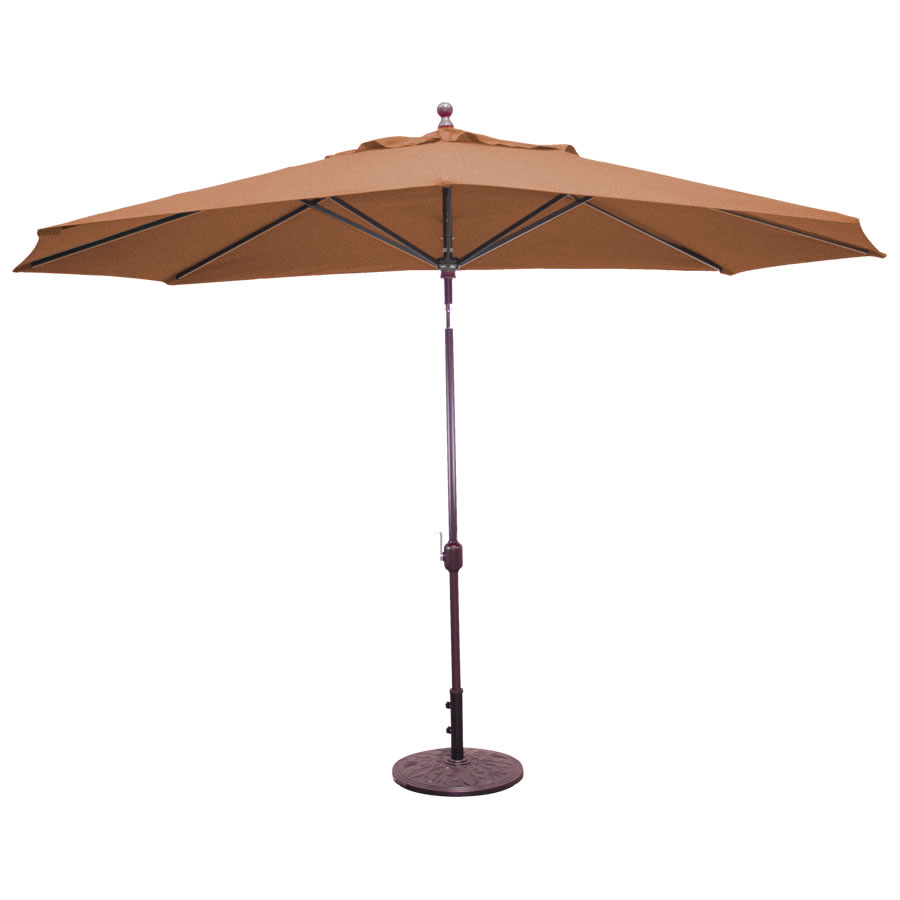 Deluxe Auto Tilt Oval Umbrella – 11'