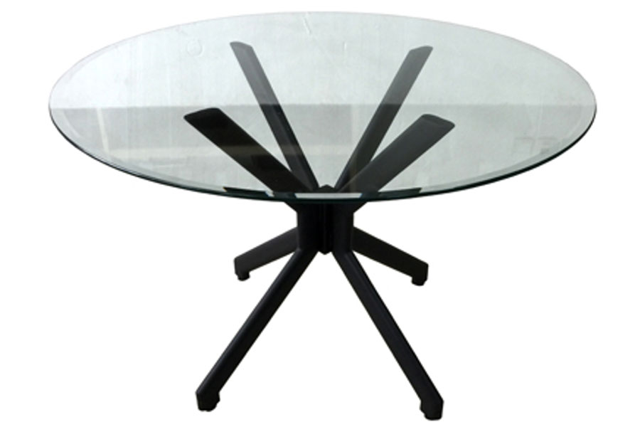 "Alan Table with 42"" Glass Top"