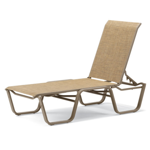 Aruba II Sling Four-Position Lay-flat Stacking Armelss Chaise