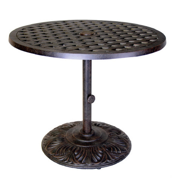 Table - Pedestal Bar - Basket Weave Pattern - 30""