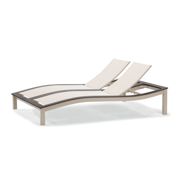 Bazza Sling Contour Armless Double Chaise