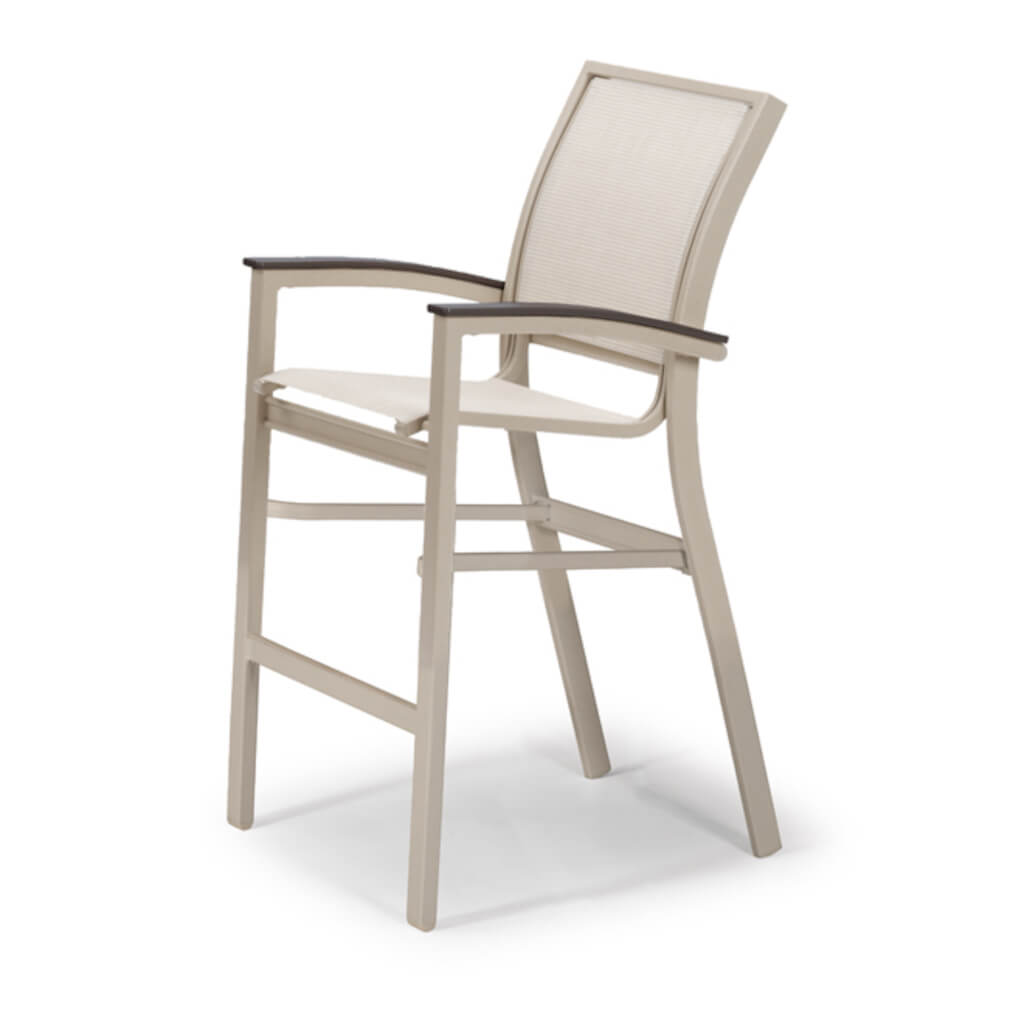 Bazza MGP Aluminum Sling Balcony Height Stacking Café Chair
