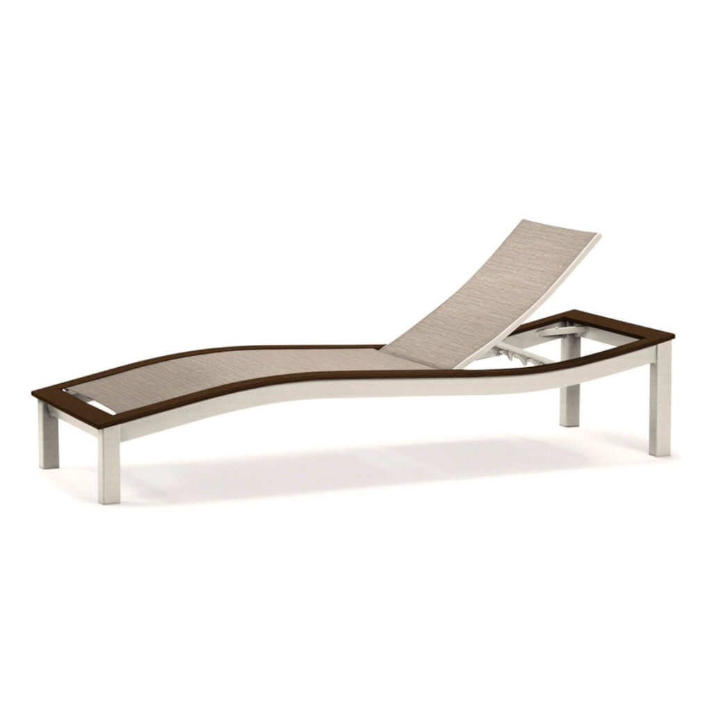 Bazza MGP Aluminum Sling Four-Position Contour Armless Chaise