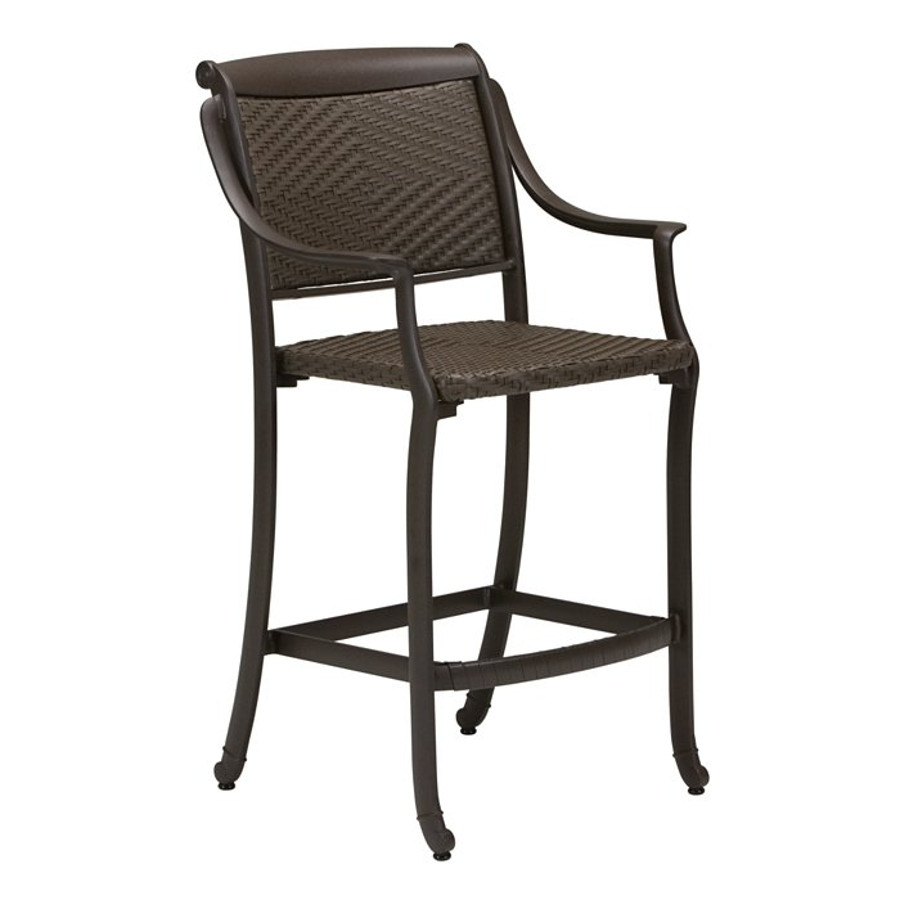 BelMar Woven Stationary Bar Stool